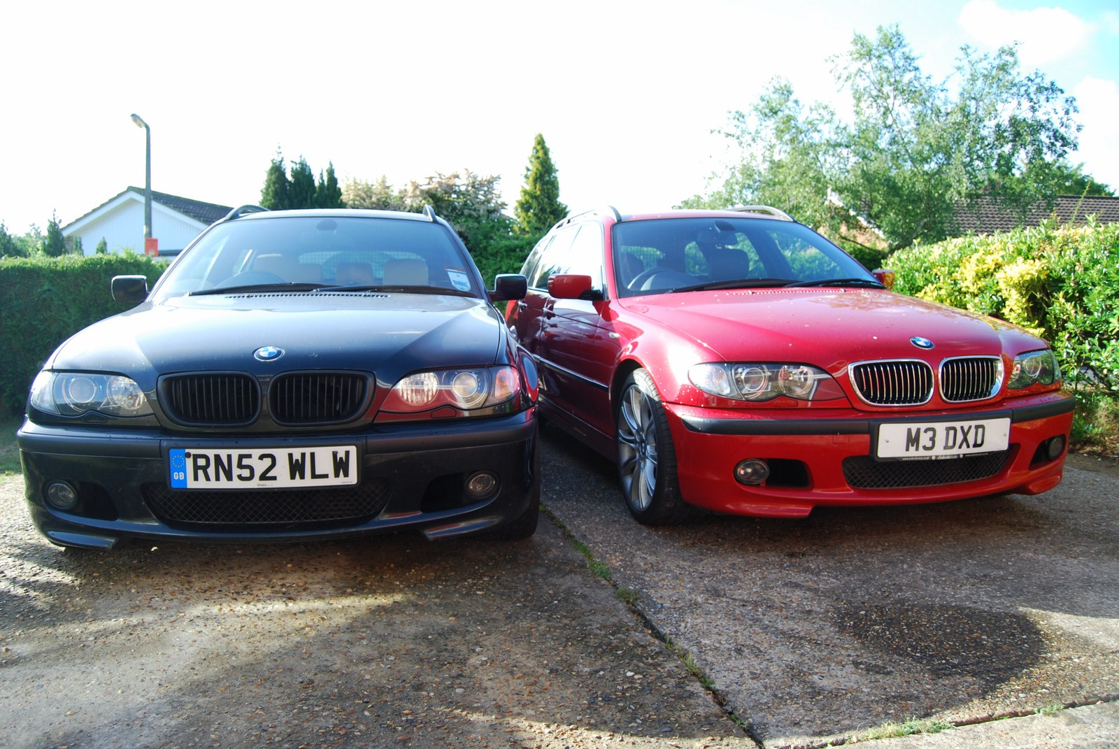 Red and black cars together in 2011