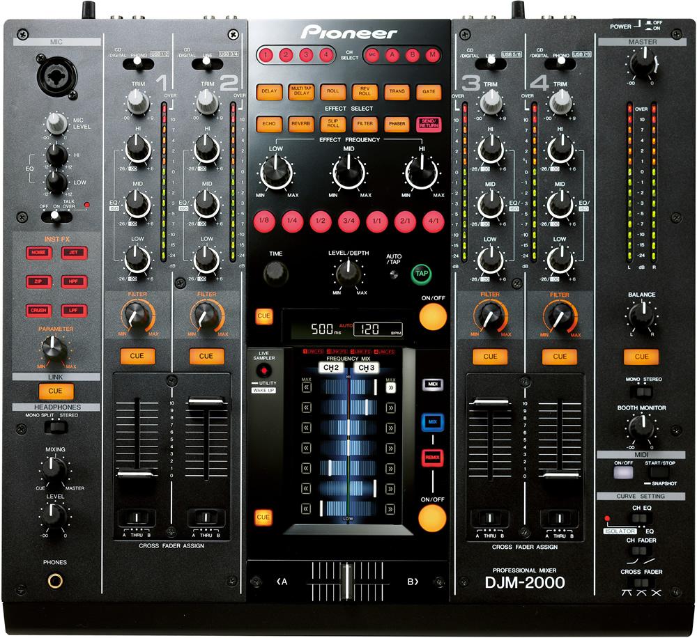 PIONEER DJM 2000 top view
