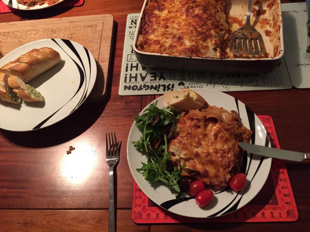 Lasagne - served!