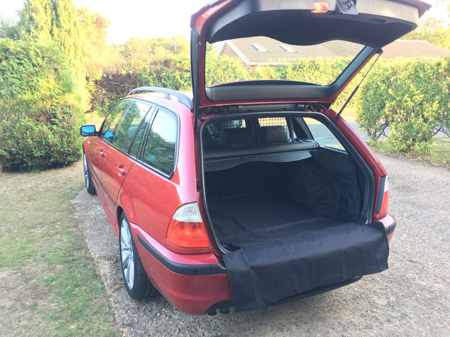330d with boot liner in place