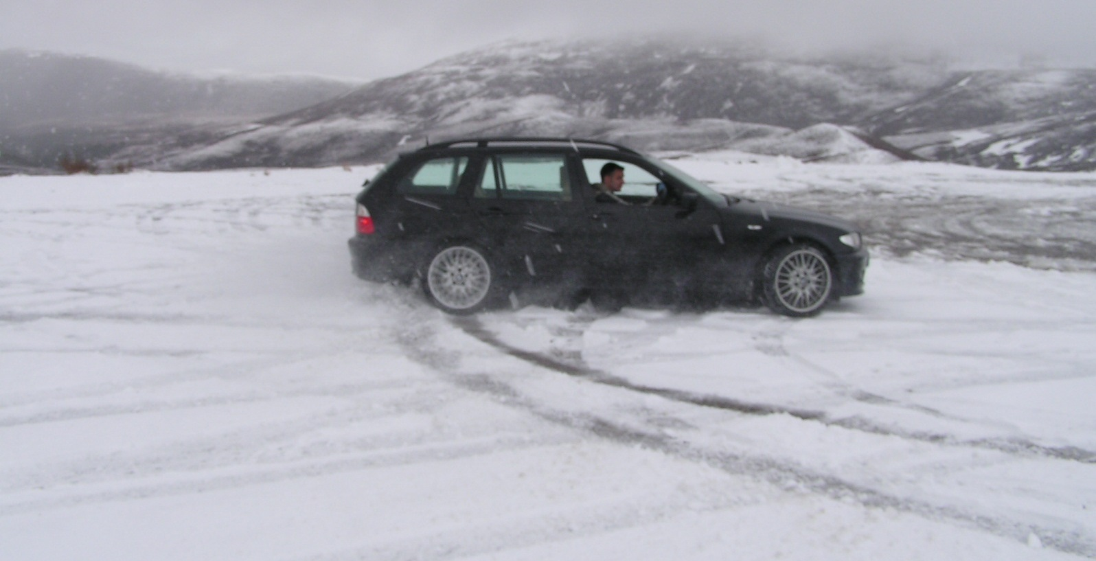 330d in Scotland on snow